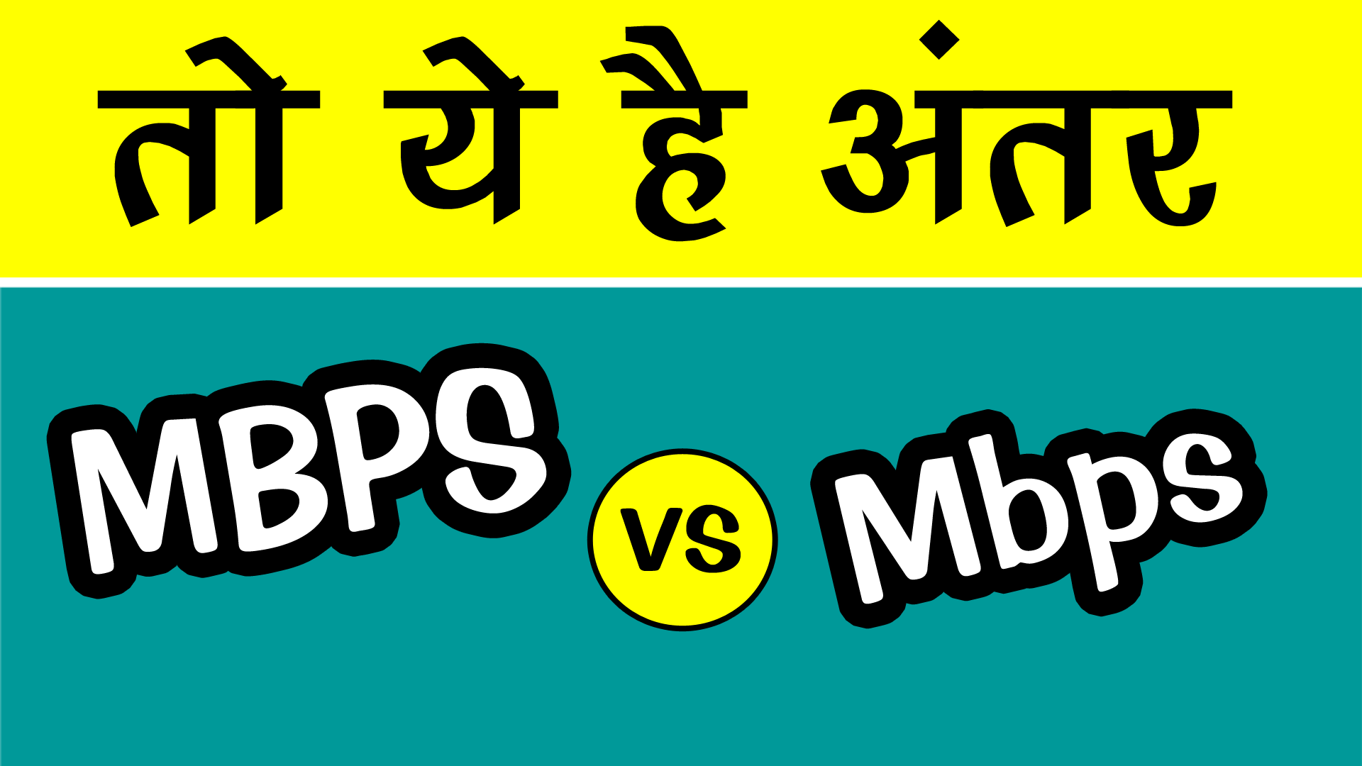 difference between Mbps vs MBPS