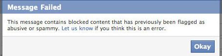 facebook url blocked